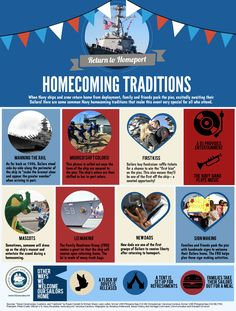 When a Navy ship and crew return home from deployment, friends and family excitedly wait for their Sailors. Here are some Navy homecoming traditions that make the event special. | #AmericasNavy #USNavy #Navy navy.com