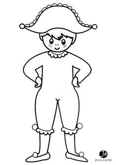Risultati immagini per arlequin en maternelle Colouring Pics, Coloring For Kids, Theme Carnaval, Summer Crafts For Kids, Doll Patterns, Preschool Activities, Mardi Gras, Smurfs, Carnival