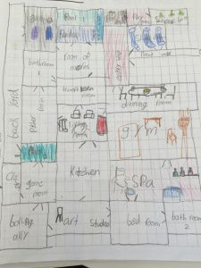 Dream Houses activity: have the kids design their own dream house floor plans & then calculate the total area