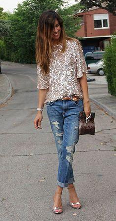 บอยเฟรนด์ ยีนส์ Zara เสื้อ Zara รองเท้าส้นสูง Zara กระเป๋า Zara เข็มขัด Las Dalias