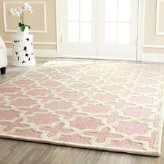 Safavieh Handmade Moroccan Cambridge Light Pink Wool Rug (4' x 6') | Overstock™ Shopping - Great Deals on Safavieh 3x5 - 4x6 Rugs