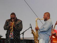 Wallace Roney (trompet) with Antoine Roney (saxo) - Paris Jazz Festival 2008