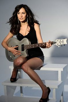 Best actress photos and pictures collection. Poses, Women Of Rock, Girls In Mini Skirts, Guitar Girl, Music Pics, Women In Music, Female Guitarist, Good Looking Women, Metal Girl
