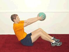 Today's Exercise: Seated Twist with Medicine Ball