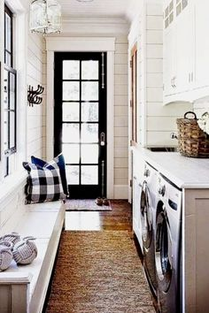 Mudroom ideas with washer and dryer - laundry room mudroom combo to have your laundry in mudroom or outroom (out room) - bootroom ideas and more entryway mudroom ideas ideas laundry Mudroom Ideas - Farmhouse Mudroom Decor and Designs We Love - Involvery Mudroom Laundry Room, Laundry Room Remodel, Small Laundry Rooms, Laundry Room Design, Laundry Room Organization, Outdoor Laundry Rooms, Laundry Storage, Kitchen Remodel, Laundry Dryer