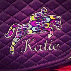 Applique hunter/jumper Saddle Pad Many by TheHoundstoothHorse, $45.00