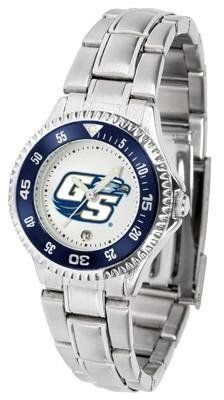 Georgia Southern Eagles Ladies Stainless Steel Watch by SunTime. $76.95. Links Make Watch Adjustable. Officially Licensed Georgia Southern Eagles Ladies Stainless Steel Watch. Women. Stainless Steel. Rotating Bezel. Georgia Southern Eagles Ladies Stainless Steel Watch. This Georgia Southern metal wrist watch works for dress or casual apparel. Functional rotating bezel is color-coordinated to compliment your favorite Eagles team logo. The Competitor Steel utilizes a...