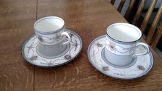 AYNSLEY Espresso Shot Fine Bone China Cups and Saucers x2 | eBay