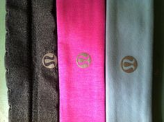 lulu lemon headbands. This is my obsession. Literally have every color