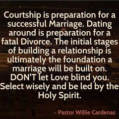 Why is courtship and dating important