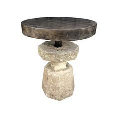 Limited Edition Stone and Wood Side Tabl | Lucca Antiques Antique Lighting, Wall Decor, Lucca, Stone, Side Tables, Antiques, Wood, Furniture, Design