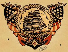 """""""Good work ain't cheap. Cheap work ain't good."""" Sailor Jerry (1911 – 1973 aka. Norman Keith Collins) was a very influential tattoo artist based in Honolulu with his tattoo shop, located right where sailors left for overseas. A Sailor Jerry tattoo was characterized by bold unwavering lines with a refined use of color and amazing detail. His one-of-a-kind work combined America design and traditions with Asiatic color and sensibilities and his visionary style is revered to this day."""