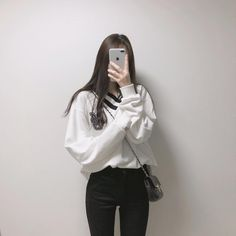 korean fashion soft grunge outfits ulzzang girl kfashion sweater jeans 얼짱 comfy casual clothes spring summer autumn winter school street everyday aesthetic soft minimalistic kawaii cute g e o r g i a n a : c l o t h e s Korean Fashion Summer, Korean Girl Fashion, Korean Fashion Trends, Korean Street Fashion, Ulzzang Fashion, Korea Fashion, Kpop Fashion, Ulzzang Girl, Korean Outfit Street Styles