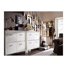 HEMNES Range-chaussures à 4 casiers - blanc - IKEA