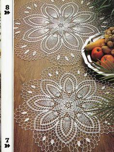 Carpetas - Flavia Luggren - Álbuns da web do Picasa...diagrams and written pattern for small and large motif!!
