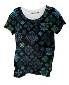 Midnight Snowflakes casual Drape shirt from PAOM...SpiceTree @ Print All Over Me.