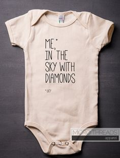 Lucy In The Sky With Diamonds - Organic Cotton Baby Bodysuit by MicroThreads