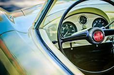 Fiat Images by Jill Reger - Images of Fiats - 1954 Fiat 1100 Berlinetta Stanguellini Bertoneo Steering Wheel
