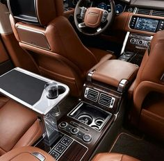 See inside a Range Rover.... I Love this and the Ride is awesome too.