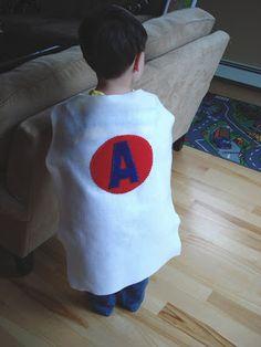 East Coast Mommy: Simple No-Sew Super Hero Cape
