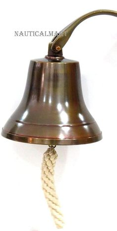 """6"""" Nautical Aluminum Ship Bell with Antique Finish Beautiful Christmas Gift"""