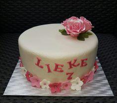 Girl rose cake