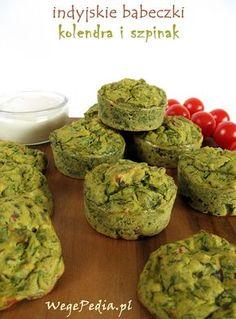 Wytrawne muffiny ze szpinakiem - bezglutenowe, fit
