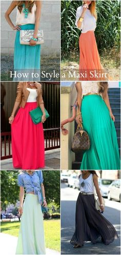 How to wear a maxi skirt. This has always been a tricky subject for me and I've been wanting to wear maxi skirts all summer.