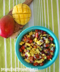 Quick and easy Mango Salsa with some meal prep ideas