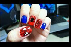 Spiderman nails!!! I love these!