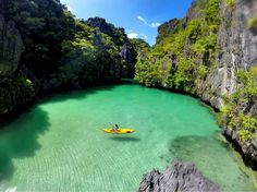 Hidden Lagoon. Bacuit Bay Philippines. Pic by @piratescry by aroundtheworldpix