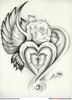 55 Heart Tattoos | Love And Sacred Heart Tattoo Designs