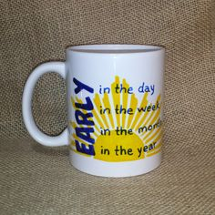 EARLY in the day JW Pioneer mug! handpainted mug, tea cup, personalize it! The Perfect pioneer gift! by HueysDIBS on Etsy https://www.etsy.com/listing/260075100/early-in-the-day-jw-pioneer-mug