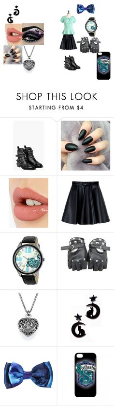 """""""Cheshire cat's Auradon outfit"""" by blazethecat-426 ❤ liked on Polyvore featuring MANGO, Charlotte Tilbury, MSGM, Disney and Hot Topic"""