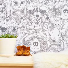 Currently inspired by: Wild Thing Removable Wallpaper on Fab.com