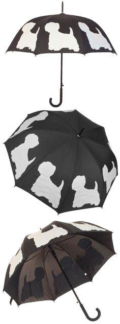 "West Highland Terrier ""Dog Park"" Walking Stick Umbrella by The San Francisco Umbrella Company #westie"