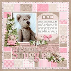 Sweet Pink Patchwork Scrapping Layout...Scrapbook.com.