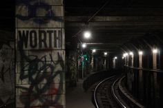The Abandoned Worth Street Subway Station in NYC... The Worth St station is a decommissioned subway station along the original IRT subway line in NYC between Canal Street and Brooklyn Bridge.