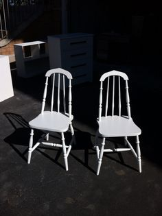 2 chairs refinished for a client.