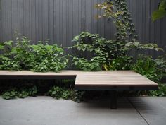 Cantilevered bench seat