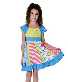 Look at this #zulilyfind! Yellow & Red Bird of a Feather Sienna Dress - Toddler & Girls #zulilyfinds