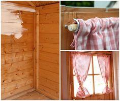 easy curtain rods for playhouse #outdoorplayhouseinterior