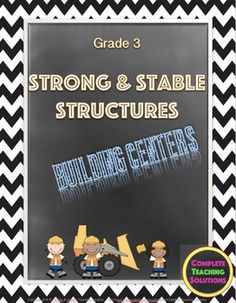 "Highly engaging and ready to go!! Five ""hands-on"" building centers that allow students to apply their knowledge of stability and strength in structures as they build various structures and communicate their knowledge of understanding of scientific concepts."