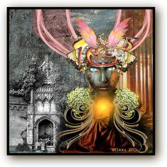 "Digital Art by *Silkku* ""She brings light"" silkkus.blogspot.fi"