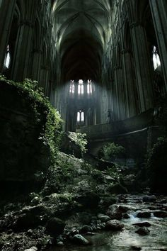 Awesome abandoned church #France more than likely haunted