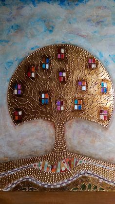Tree of Life gold leafs Tree Of Life, Leaves, Paintings, Gold, Paint, Painting Art, Painting, Painted Canvas, Drawings