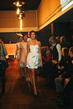 Lovely fashion show @PlateauLounge MTL!  #astripruggerdesign  #montrealfashion #beautifuldress #trinkjewelry #canadianfashion #customdesign
