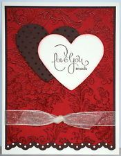 handmade LOVE YOU MUCH  Valentine's Day card  ~ uses Stampin Up! products
