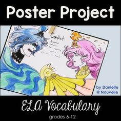 For this project, students design a vocabulary poster with a definition, example, and illustration. I like to assign this poster project three times a year: once with Short Stories (for literary terms), once before our Shakespeare unit (for drama vocabulary), and again for poetic devices in the spring. My students always come up with amazing designs, and these double as classroom decoration and reference posters. There's even an editable version included, so that you can make it your own.