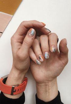 63 Cute Nail Designs for Every Nail Length & Season - 63 Cute Nail Designs for Every Nail Length & Season: Cute Nails to Try - Minimalist Nails, Nail Polish, Manicure And Pedicure, Pretty Nail Designs, Nail Art Designs, Shellac Nail Designs, Toe Nails, Shellac Nails, Acrylic Nails